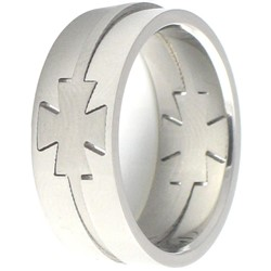 Stainless Steel Ring by BodyPUNKS (SSRX0598)