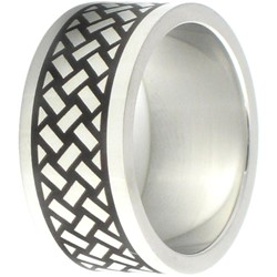 Stainless Steel Ring by BodyPUNKS (SSRX0599)