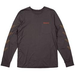 Brixton - Mens Maron Longsleeve Pocket T-Shirt