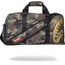Sprayground - Unisex-Adult Gold Stencil Shark Camo Duffle Backpack