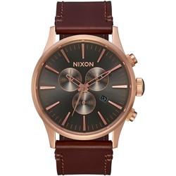 Nixon - Analog Men's Sentry Chrono Leather Watch