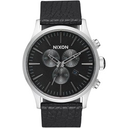 Nixon - Analog Men's Sentry Chrono Leather Watch
