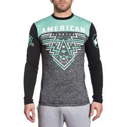 American Fighter - Mens Firebrick Long Sleeve T-Shirt