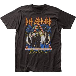 Def Leppard - Mens Hysteria Tour Fitted Jersey T-Shirt