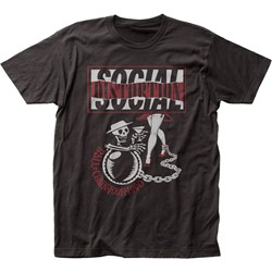 Social Distortion - Mens Ball And Chain Tour Fitted Jersey T-Shirt