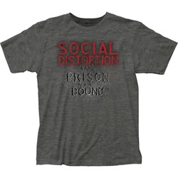 Social Distortion - Mens Prison Bound Fitted Jersey T-Shirt