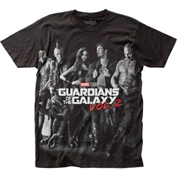 Guardians of the Galaxy - Mens Poster Big Print Subway T-Shirt