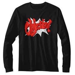Ace Attorney Mens Objection! Long Sleeve T-Shirt