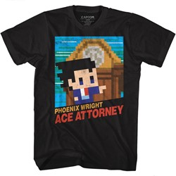Ace Attorney Mens 8Bit Cover T-Shirt
