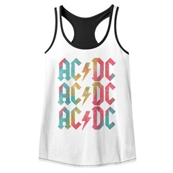 AC/DC Womens Back In Color Racerback Tank Top
