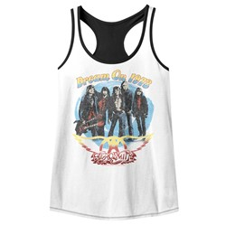 Aerosmith Womens Dream On W/Black Racerback Tank Top