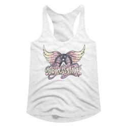 Aerosmith Womens Faded Pinks Racerback Tank Top