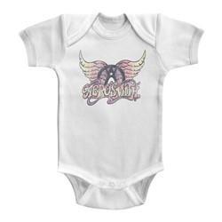 Aerosmith Unisex-Baby Faded Pinks Onesie