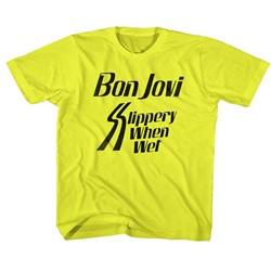 Bon Jovi Unisex-Child Slippery When T-Shirt