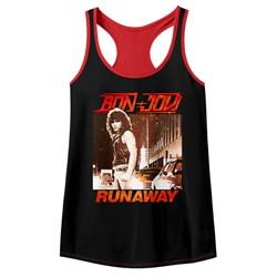 Bon Jovi Womens Runaway Racerback Tank Top