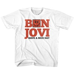 Bon Jovi Unisex-Child Have A Nice Day T-Shirt