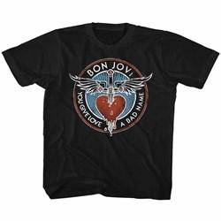 Bon Jovi Unisex-Child Badname T-Shirt