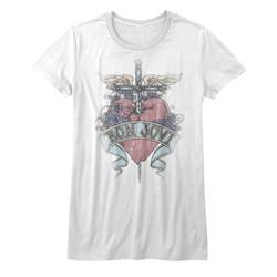Bon Jovi Womens Pierced T-Shirt