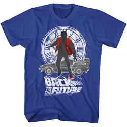 Back To The Future Mens Silhouette Collage T-Shirt