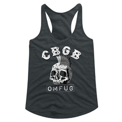 CBGB Womens Dead Mohawk Racerback Tank Top