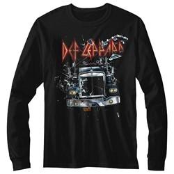 Def Leppard Mens Onthroughttheglass Long Sleeve T-Shirt