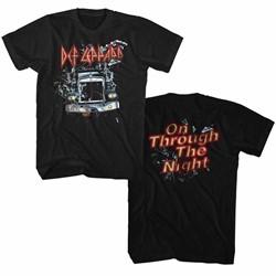Def Leppard Mens Through Night 2Side T-Shirt
