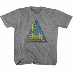 Def Leppard Unisex-Child Primary Triangle T-Shirt