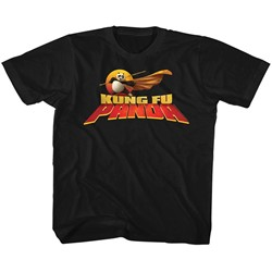 Kung Fu Panda Unisex-Child Cape Flare Logo T-Shirt