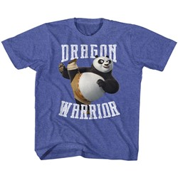 Kung Fu Panda Unisex-Child D-Warrior T-Shirt