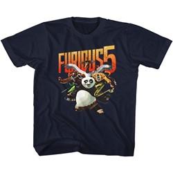 Kung Fu Panda Unisex-Child Furious 5 T-Shirt