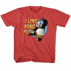 Kung Fu Panda Unisex-Child Love Kung Fu T-Shirt