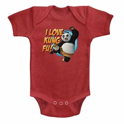 Kung Fu Panda Unisex-Baby Love Kung Fu Onesie