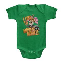 Madagascar Unisex-Baby Move It Move It Onesie
