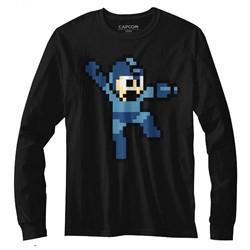 Mega Man Mens Jumpman Long Sleeve T-Shirt