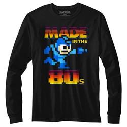 Mega Man Mens Madeinthe80S Long Sleeve T-Shirt