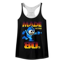 Mega Man Womens Madeinthe80S Racerback Tank Top