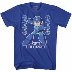 Mega Man Mens Get Equipped T-Shirt
