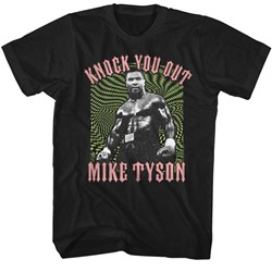 Mike Tyson Mens Psychadelic Knockout2 T-Shirt