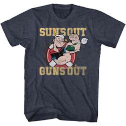 Popeye Mens Suns Out Guns Out T-Shirt