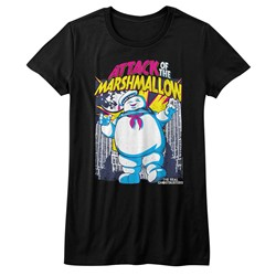 Ghostbusters Womens Marshmallow Attacks T-Shirt