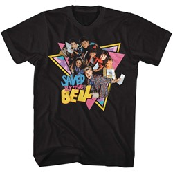 Saved By The Bell Mens Group Triangles T-Shirt