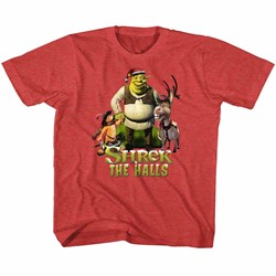 Shrek Unisex-Child Holiday Group T-Shirt