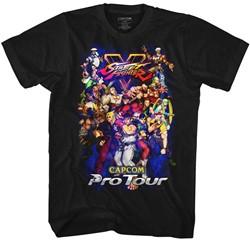 Street Fighter Mens Pro Tour 2 T-Shirt