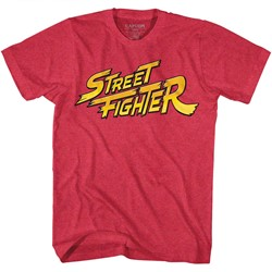 Street Fighter Mens Red Yellow Logo T-Shirt