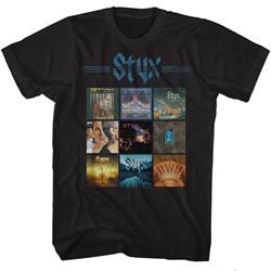 Styx Mens Album Grid T-Shirt