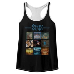 Styx Womens Album Grid Racerback Tank Top