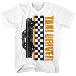 Taxi Driver Mens Taxi Checkers T-Shirt