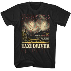 Taxi Driver Mens Real Rain T-Shirt