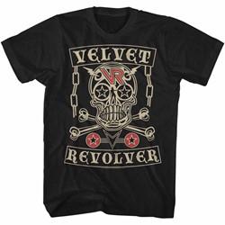 Velvet Revolver Mens Velvet Skull T-Shirt
