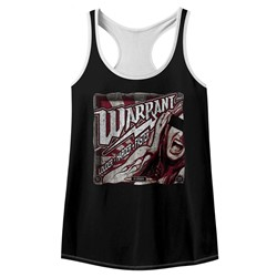 Warrant Womens Louder Harder Faster Racerback Tank Top